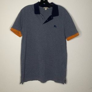 Burberry grey polo size large